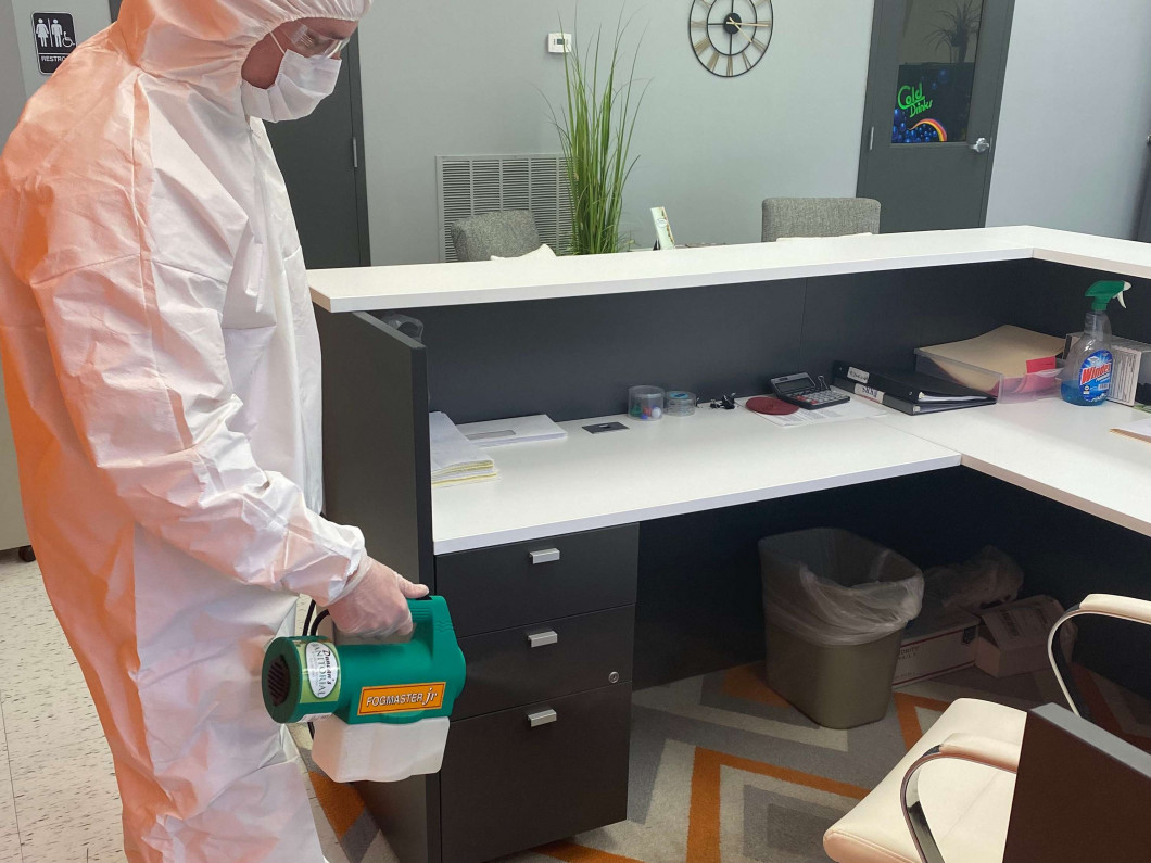 How we'll disinfect your space